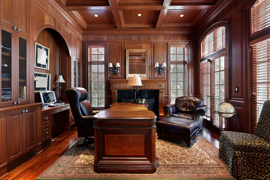 Library in luxury home