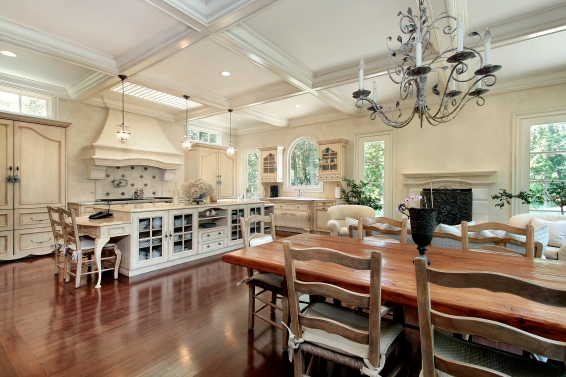 Large upscale kitchen